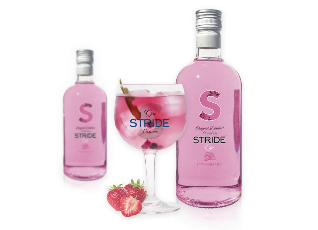 Gin Stride Premium Strawberry.
